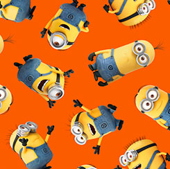 1 IN A MINION TOSSED MINIONS ORANGE