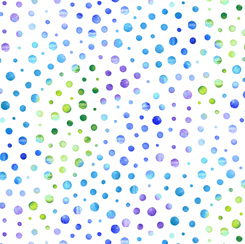 Mimosa Dots White / Blue