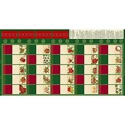 COUNTDOWN TO CHRISTMAS ADVENT CALENDAR RED/GREEN