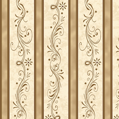 Amazing Grace DECORATIVE SCROLL STRIPE TAN