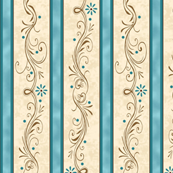 Amazing Grace DECORATIVE SCROLL STRIPE TEAL