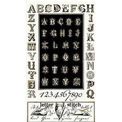 Letter Stitch Black Alphabet 1649-24053-J Panel