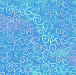 OMBRE SCROLL 24174 B OCEAN BLUE
