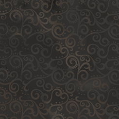 Ombre Scroll in Black by Quilting Treasures