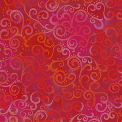 OMBRE SCROLL CHERRY RED - 1649-24174-R