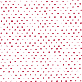 Pixie Dots SQUARE DOT BLENDER WHITE/RED