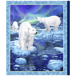 NORTHERN LIGHTS POLAR BEAR PANEL(36)