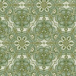 LUMINOUS lace lace medallion cream/forest