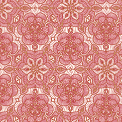 Gold and Red Lace on Cream - Lace Medallions on Light Background:  Luminous Lace by Ivy Lane for Quilting Treasures