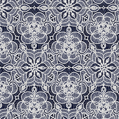 LUMINOUS lace lace medallion navy