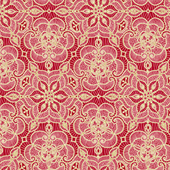LUMINOUS lace lace medallion red
