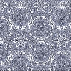 LUMINOUS lace lace medallion white/navy