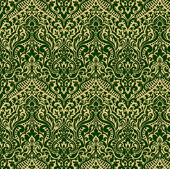 LUMINOUS lace chevron brocade forest