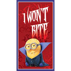 Bite Me I WON'T BITE PANEL (24) RED