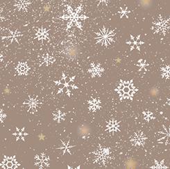 QT WOODLAND WONDER DARK KHAKI SNOWFLAKES 24525 A