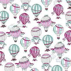 C'EST LA VIE 24609-Z White Hot Air Balloons