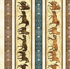 Unbridled Horses Decorative Stripe Cream
