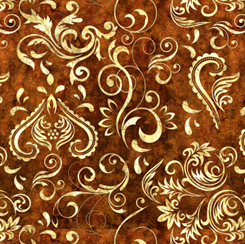 Unbridled - Inlay Scroll - Dark Sienna