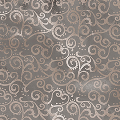 108 inch OMBRE SCROLL GRAY WIDE - Quilting Treasures