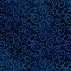 Ombre Scroll Wide - NAVY