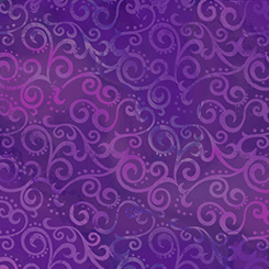 Ombre Scroll Grape Wide 108 Quilt Back