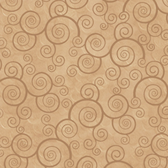 Quilting Treasures Harmony Flannel 24788-EAFLN CURLY SCROLL CAMEL
