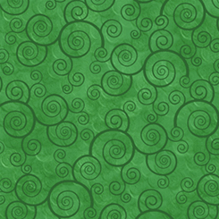 Harmony - Flannel CURLY SCROLL SHAMROCK