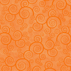 Harmony - Flannel CURLY SCROLL TANGERINE