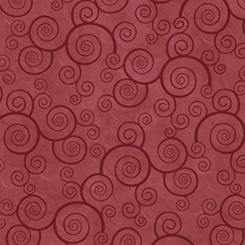 Harmony - Flannel CURLY SCROLL PAPRIKA