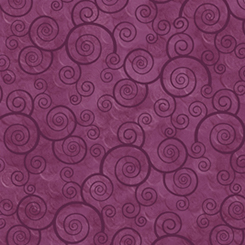 HARMONY - COTTON CURLY SCROLL PLUM VELVET