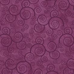 Plum Velvet Harmony - Curly Scroll