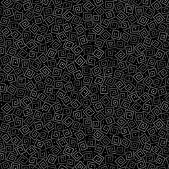 Quilting Treasures Harmony Flannel 24779-JFLN SQUARES BLACK