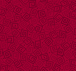 Harmony - Cotton SQUARES CRIMSON