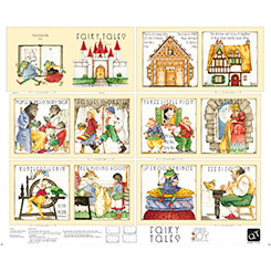 Classic Storybooks Fairy Tales Book Panel