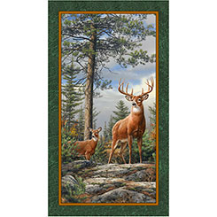 Quilting Treasures - Deer Mountain Panel