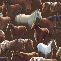 Quilting Treasures Sundance wild horses