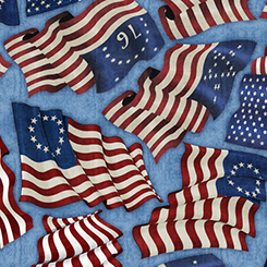 Home of the Brave by Quilting Treasures - Blue 24808b