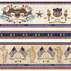 Home of the Brave by Quilting Treasures - Parchment 24810e