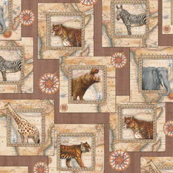 Out of Africa Animal Map Squares