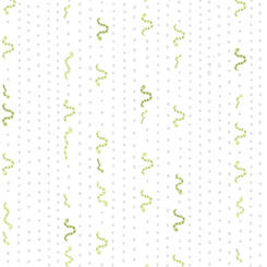 Ink & Arrow Little Buggers Flannel Inch Worm Stripe Vertical- White