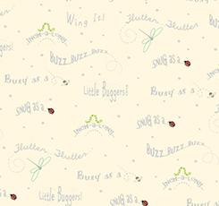 Ink & Arrow Little Buggers Flannel Words Buttercream