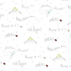 Little Buggers Buggy Sayings on White