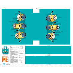 MILLIONS OF MINIONS MINION TOTE BAG PANEL(36) AQUA