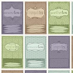 TEA-RRIFIC TEA PACKETS SET IVORY