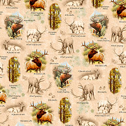 MOUNTAIN ELK VIGNETTES TAN