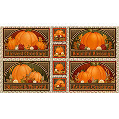 HARVEST GREETINGS HARVEST GREETINGS PICTURE PATCHES Panel