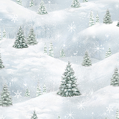 WOODLAND FRIENDS PINE TREE SCENIC BLUE FROST