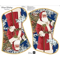 Sew & Go SANTA STOCKING CRAFT PANEL(36) MULTI