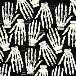 Queen Of We'en HANDS OFF BLACK/CREAM