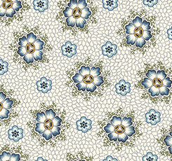 Dotted Floral Cream | Stafford Fabric by QT Fabrics